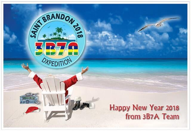 3B7A Saint Brandon Island DX Pedition Happy New Year