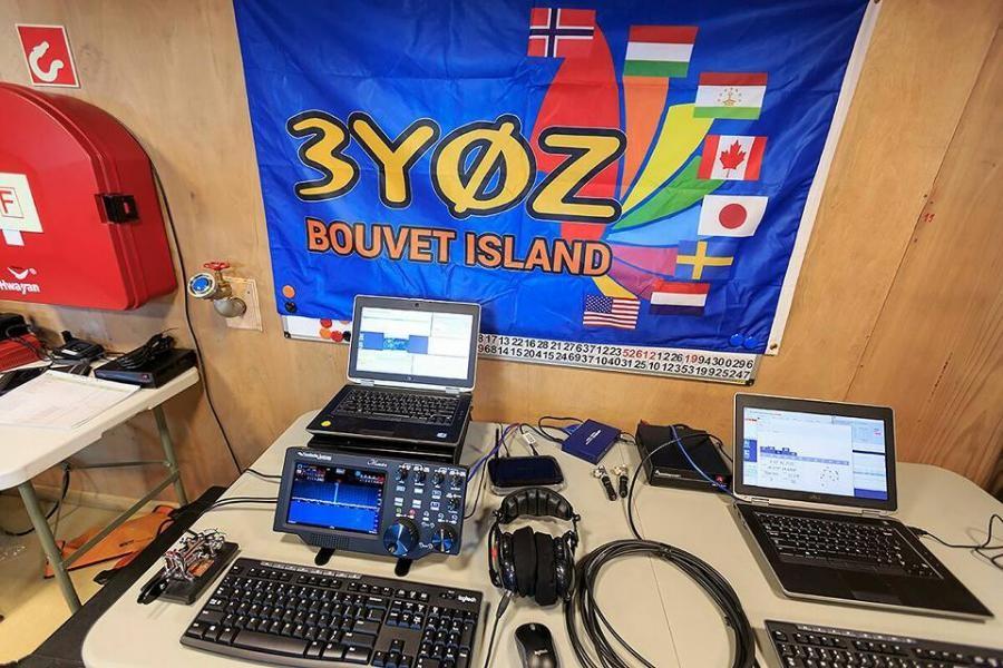 3Y0Z 3G9A/MM Bouvet Island DX Pedition Shack