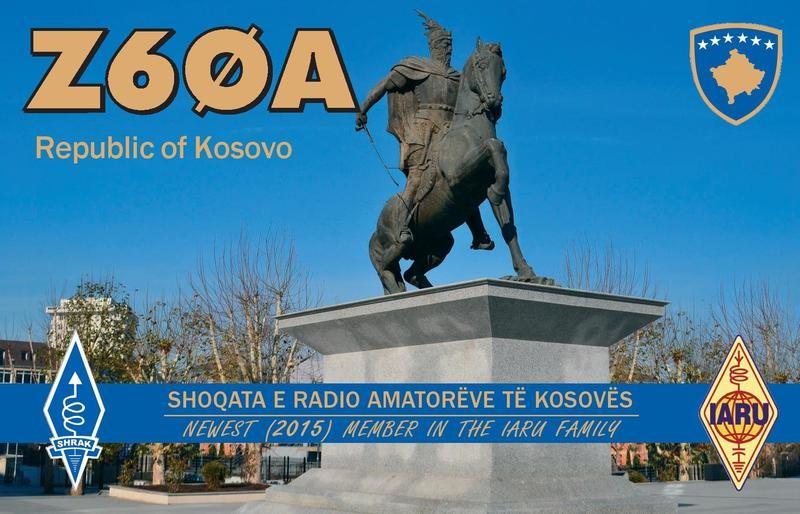 Z60A Kosovo QSL