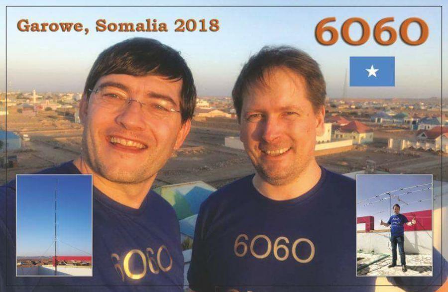 6O6O Garowe, Somalia QSL.