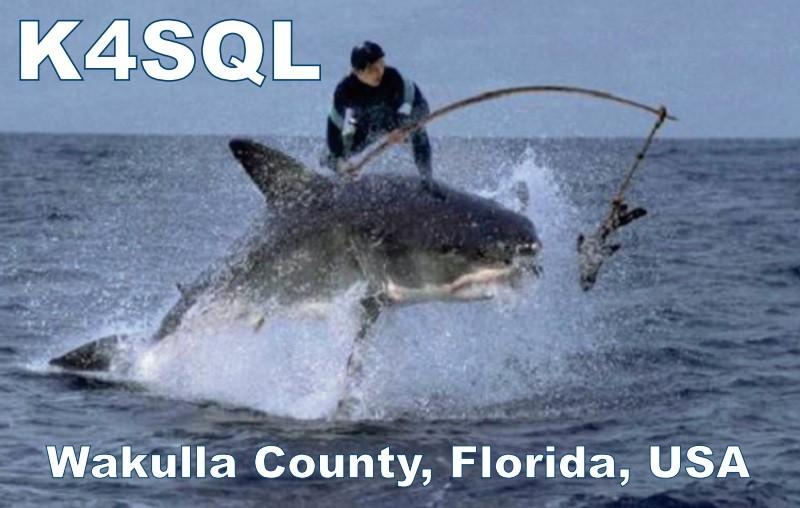 K4SQL F Hutch DeLoach, Crawfordville, Florida, USA. QSL.