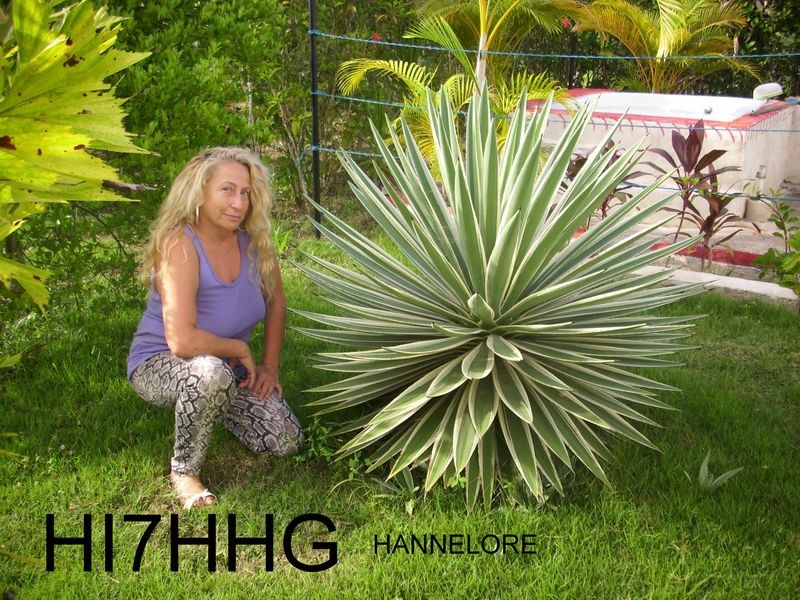 HI7HHG Hannelore Handler, Higüey, Dominican Republic.