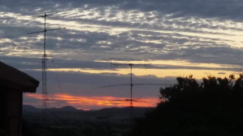 CX7SS Eugenio de Marino, Villa Serrana, Uruguay. Antennas.