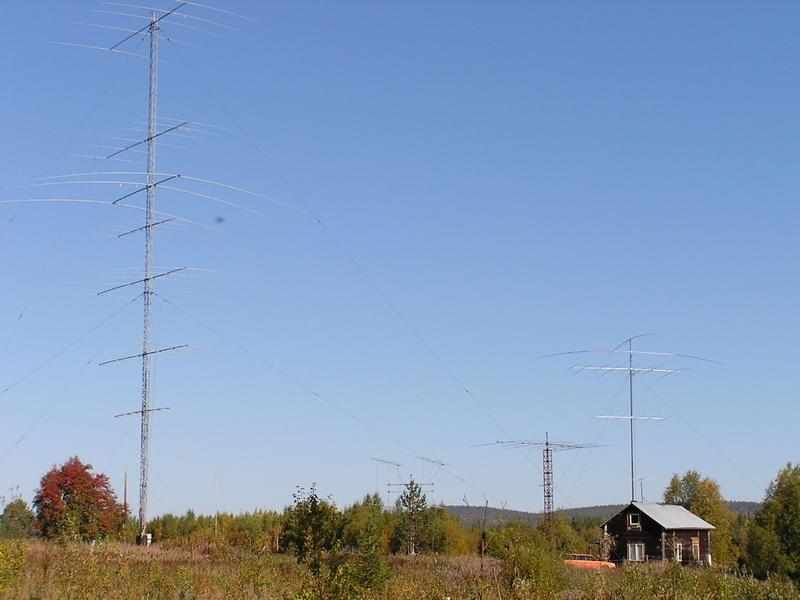 SC80FOC Jan Erik Holm, Boden, Sweden. Antennas.