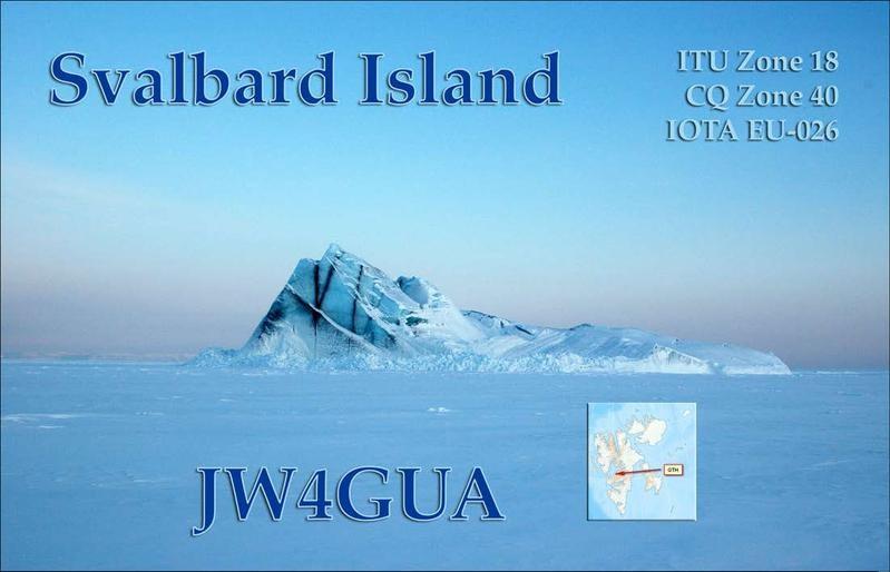 JW4GUA Jan Olav Saeter, Longyearbyen, Svalbard. QSL Card.