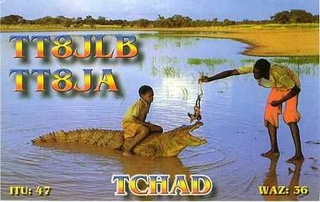 TT8JLB TT8JA Chad QSL Card