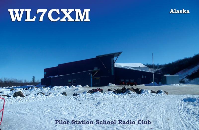 WL7CXM Pilot Station School Amateur Radio Club, Kotlik School, Kotlik Alaska.