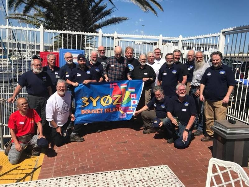3Y0Z Bouvet Island DX Pedition team banner Capetown Amateu Radio Centre