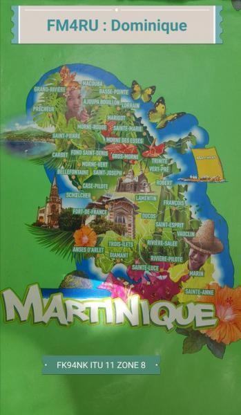 FM4RU Dominique Derudder, Saint Anne, Martinique Island. QSL.