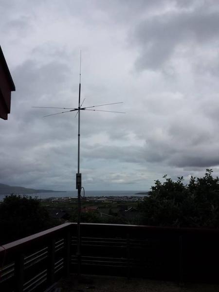 OY3SR Sven Skarohamar, Hoyvik, Faroe Islands. Antenna.