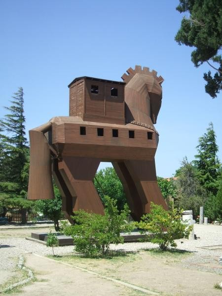 TC3TROIA Trojan Horse, Troya, Canakkale, Turkey.
