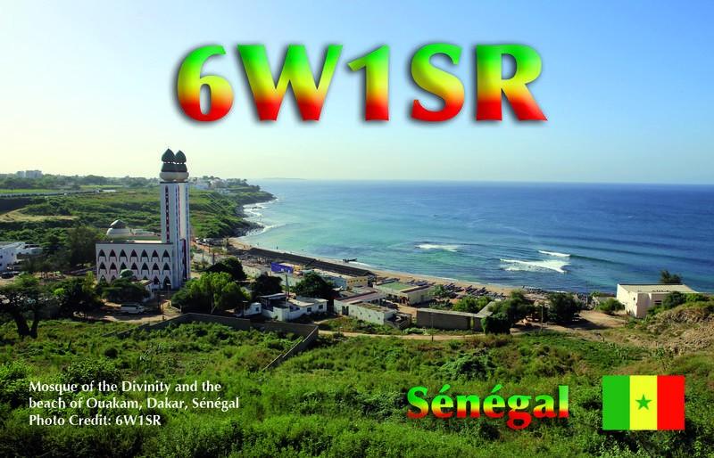6W1SR Dominique Auprince, Dakar, Senegal. QSL.