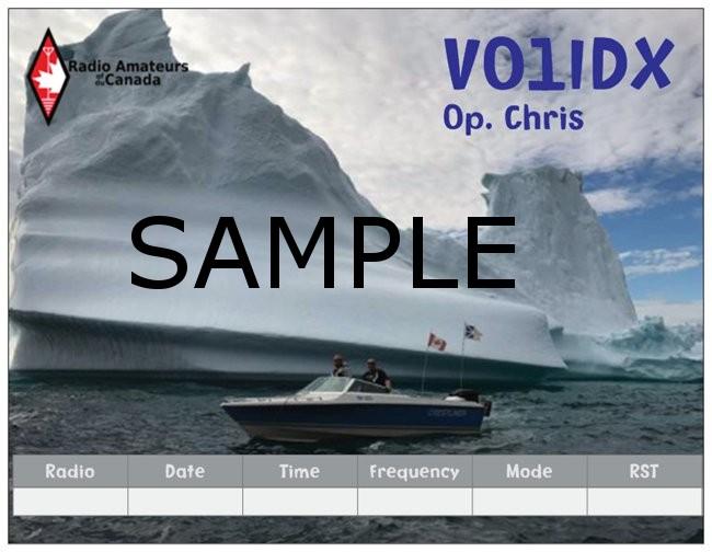 VD105A Christopher Hillier, Newfoundland. QSL.