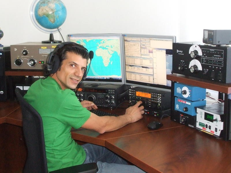 H2T Paris Andreou, Nicosia, Cyprus. Radio Room Shack.
