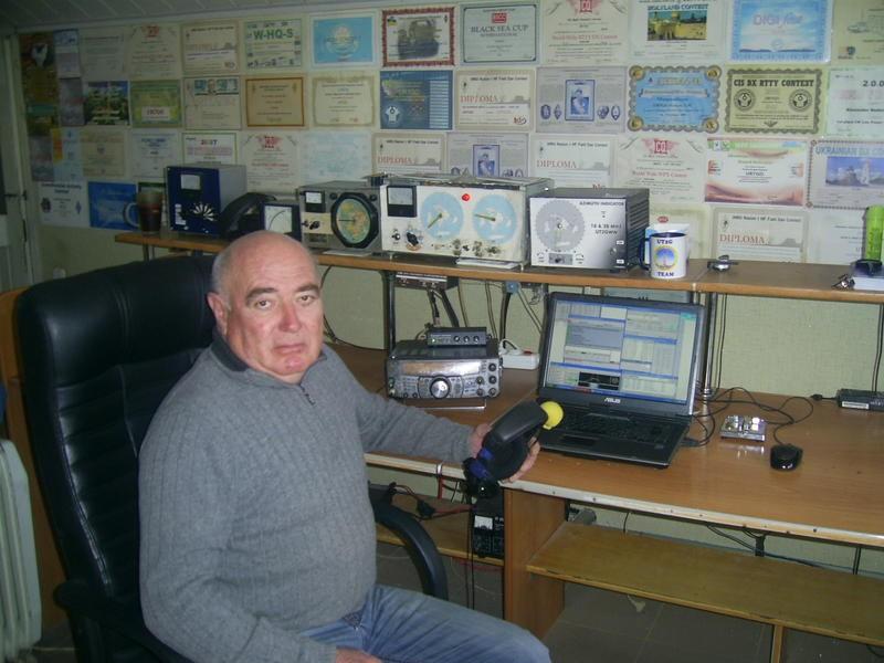 EM2G Alexander Nudel, Kherson, Ukraine. Radio Room Shack.