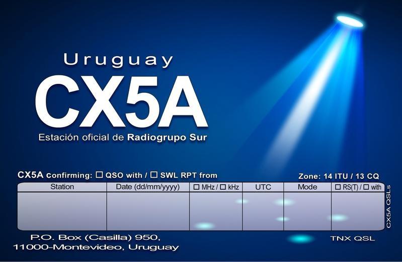 CX5A Radiogrupo Sur, Montevideo, Uruguay.