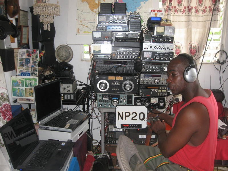 NP2Q Anthony Arnold, Saint Thomas, US Virgin Islands. Radio Room Shack.