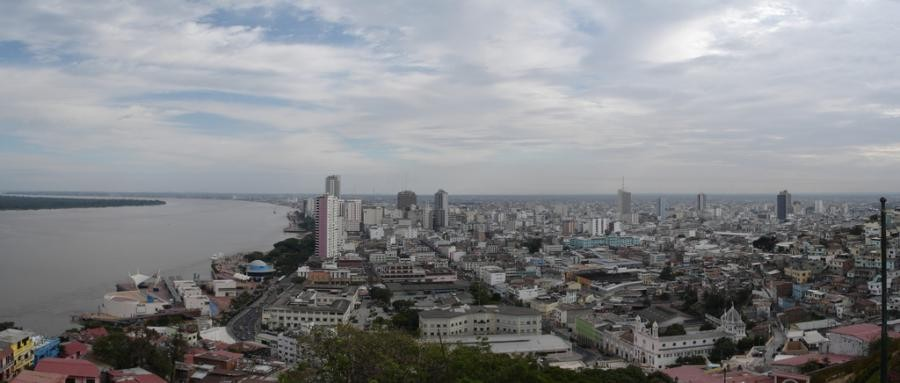 HC2TEP View from Las Penas to Downtown of Guayaquil, Ecuador.