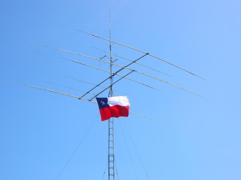 CE2FME Giovanni Pruzzo Balza, Quillota, Chile. Antennas.