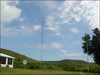 KV4FZ Herbert Schoenbohm, Christiansted, Saint Croix Island, US Virgin Islands. Antennas.