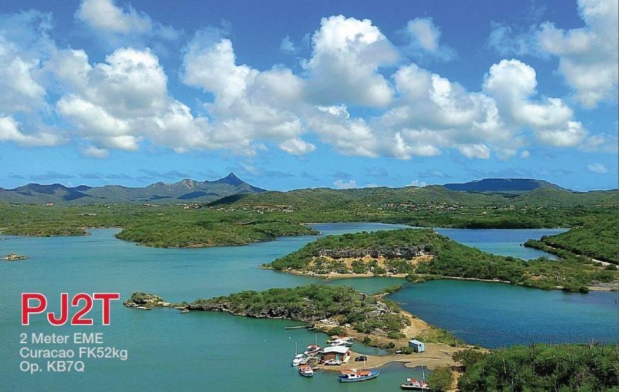 PJ2T Curacao Island EME QSL KB7Q