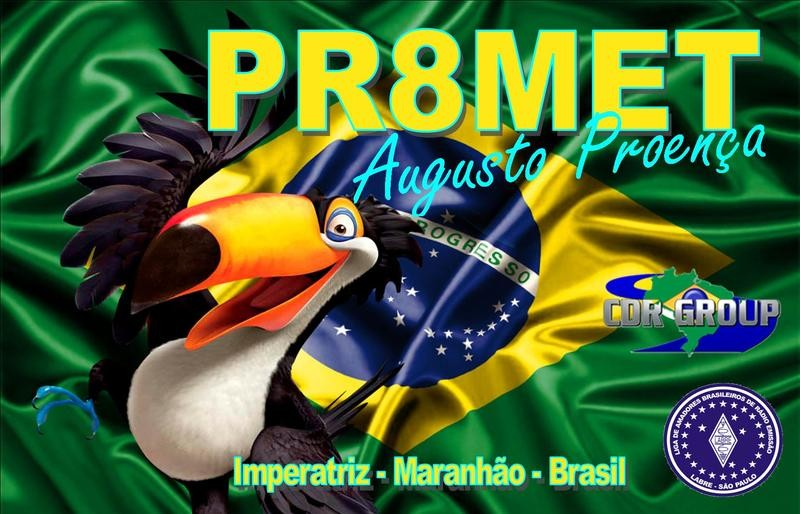 PR8MET Augusto Proenca, Imperatriz, Brazil. QSL Card.