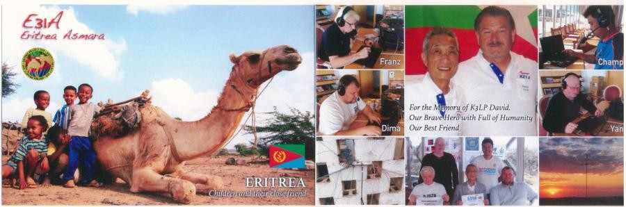 E31A Eritrea DX Pedition QSL Card K3LP Memory