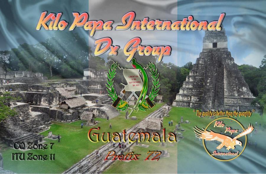 72KPI010 Guatemala QSL Card