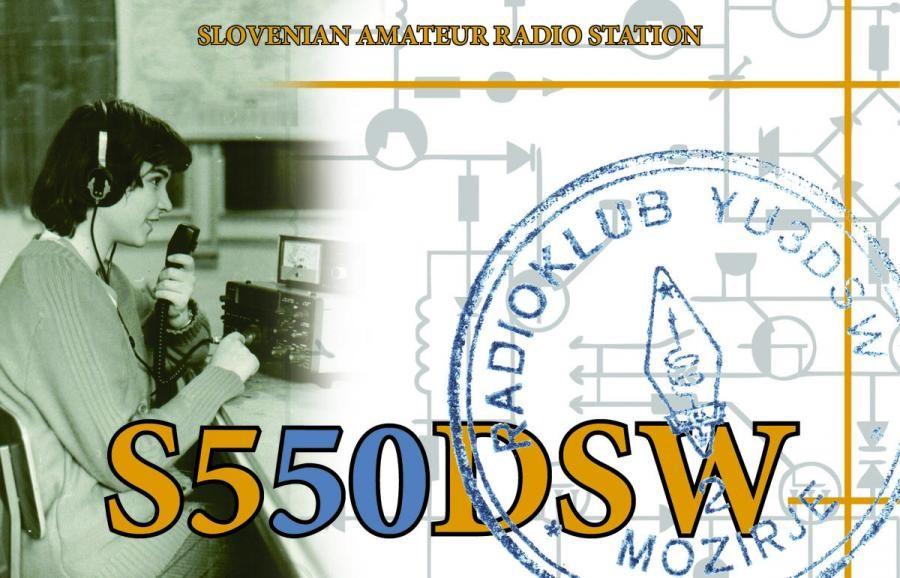 S550DSW Radio Club Mozirje, Mozirje, Slovenia.