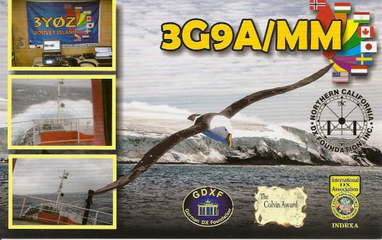 3G9A/MM Betanzos 3Y0Z Bouvet Island DX Pedition QSL