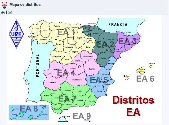 Amateur Ham Radio Map Spain