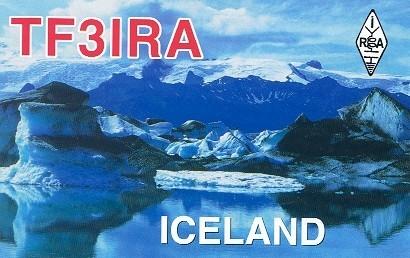 TF3IRA Islenskir Radioamatorar, Reykjavik, Iceland. QSL Card.