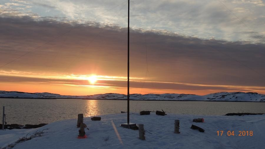 VE7ACN/VE2 Sunrise, Harrington Island.