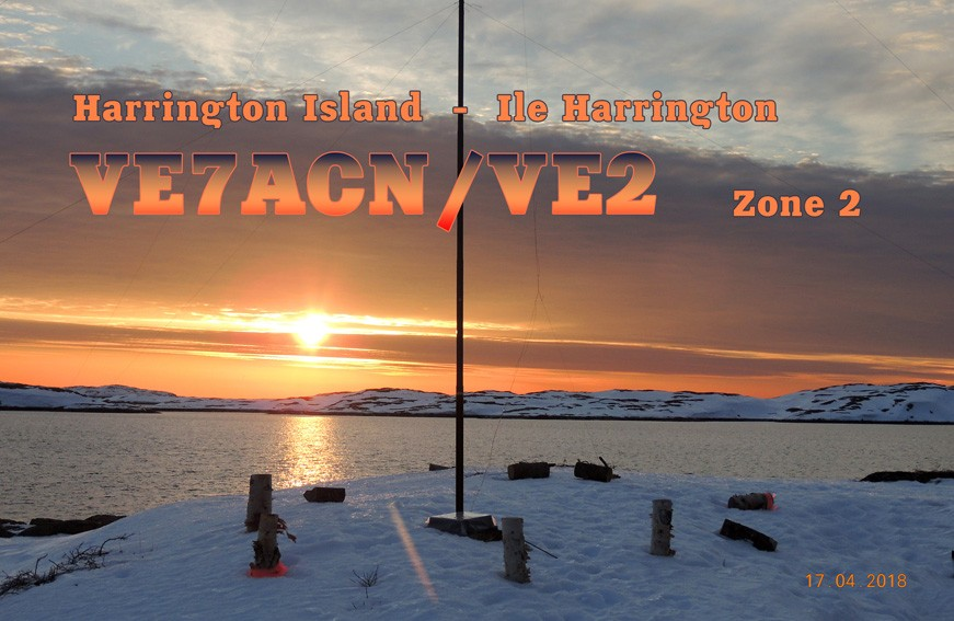 VE7ACN/VE2 Harrington Island QSL Card
