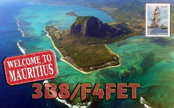 3B8/F4FET Guillaume Sauvage, Mauritius Island.