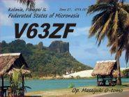 V63ZF Остров Понпеи QSL