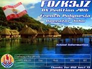 FO/K3JZ FO/N7SOF Society Islands French Polynesia