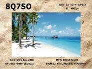 8Q7SO Mirihi Island 2011