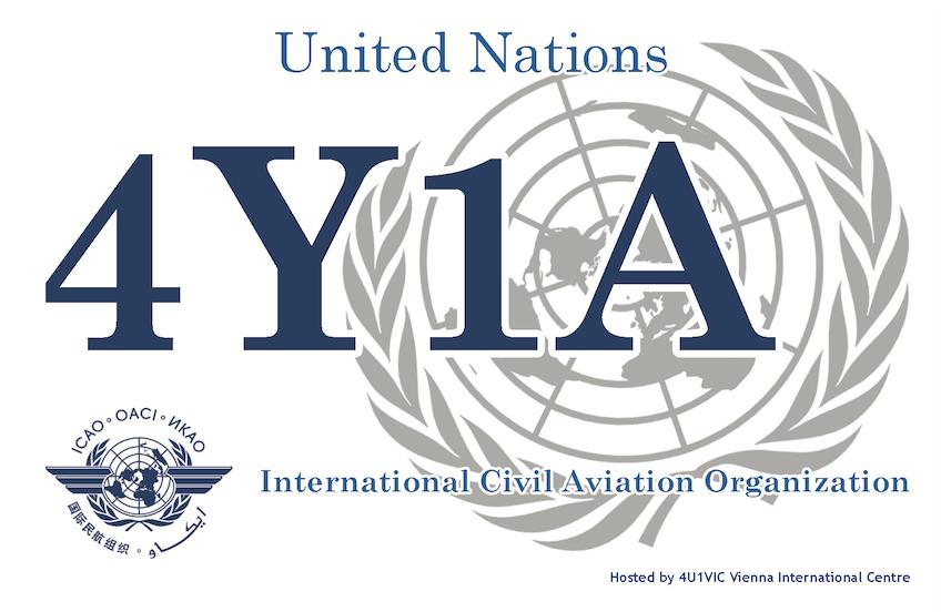 International Civil Aviation Organization 4Y1A QSL