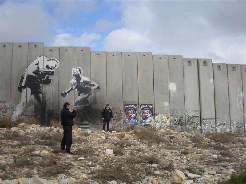 Стена Граффитти Вефлеем Палестина IK2CIO IZ4AKS E44M