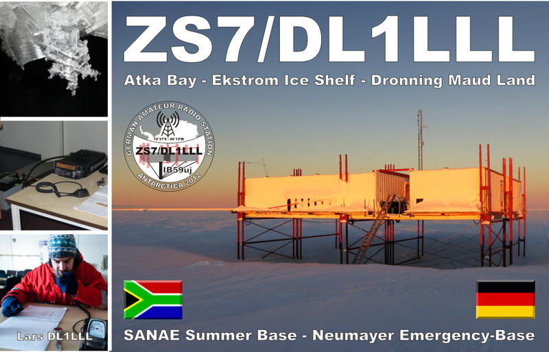 Антарктида ZS7/DL1LLL База ЮАР Sanae Summer Base
