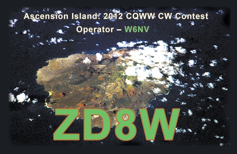 Ascension Island ZD8W QSL
