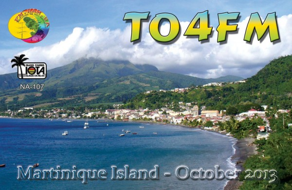 Martinique Island TO4FM QSL
