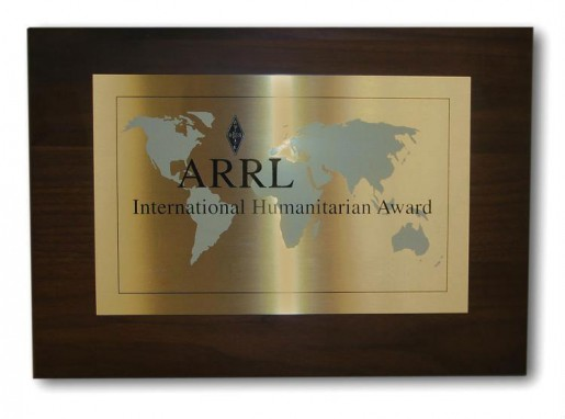 ARRL International Humanitarian Award 2011 Андрей Федоров RW3AH