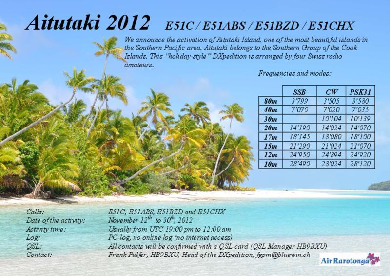 Aitutaki Island Cook Islands E51C E51ABS E51BZD E51CHX