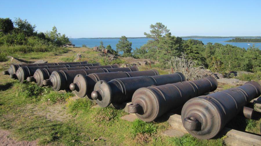 Аландские острова OG0W Туристические достопримечательности Русские пушки