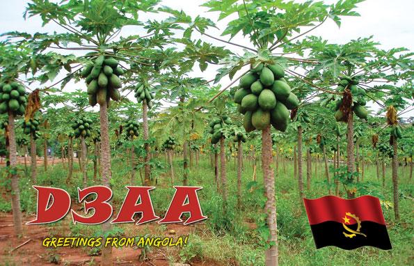 Angola D3AA 20m QSL