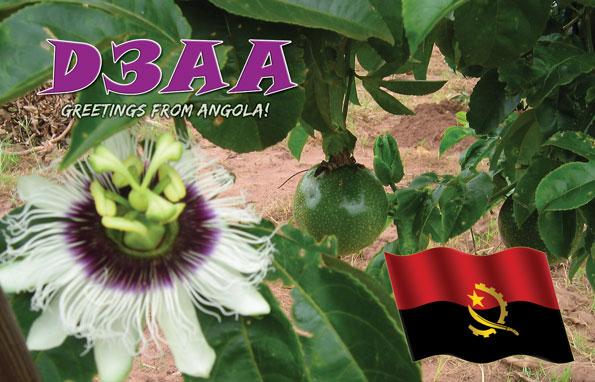 Ангола D3AA QSL 2