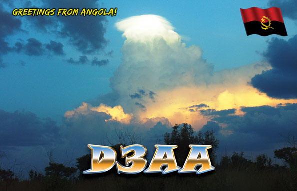Ангола D3AA QSL 40 метров
