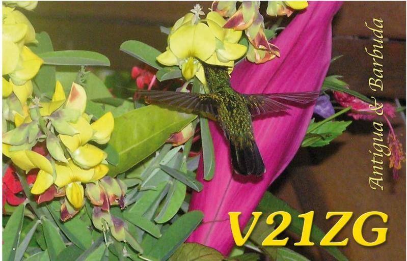 ������� ������� � ������� V21ZG QSL